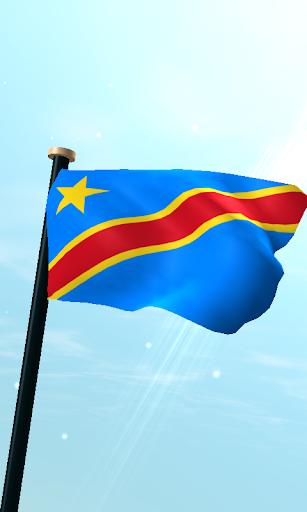 刚果民主共和国旗3D动态壁纸