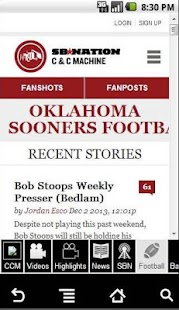 CCM's Ultimate Sooner App - screenshot thumbnail
