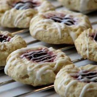 Tyler's Raspberry Thumbprints with White Chocolate Glaze