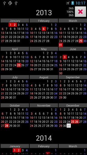 NZ Holidays Annual Calendar