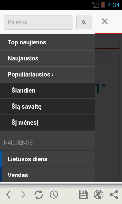 Lrytas.lt for Android phone - screenshot