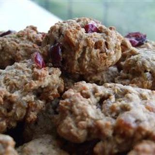 Apple-Cran-Cherry Oatmeal Cookies.