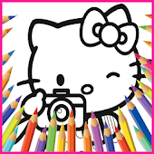Hello Hello Kittys Coloring