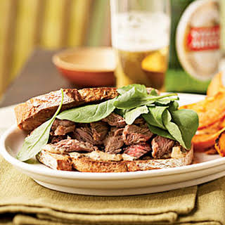 Steak Sandwiches with Worcestershire Mayonnaise.