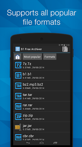 B1 Archiver zip rar unzip