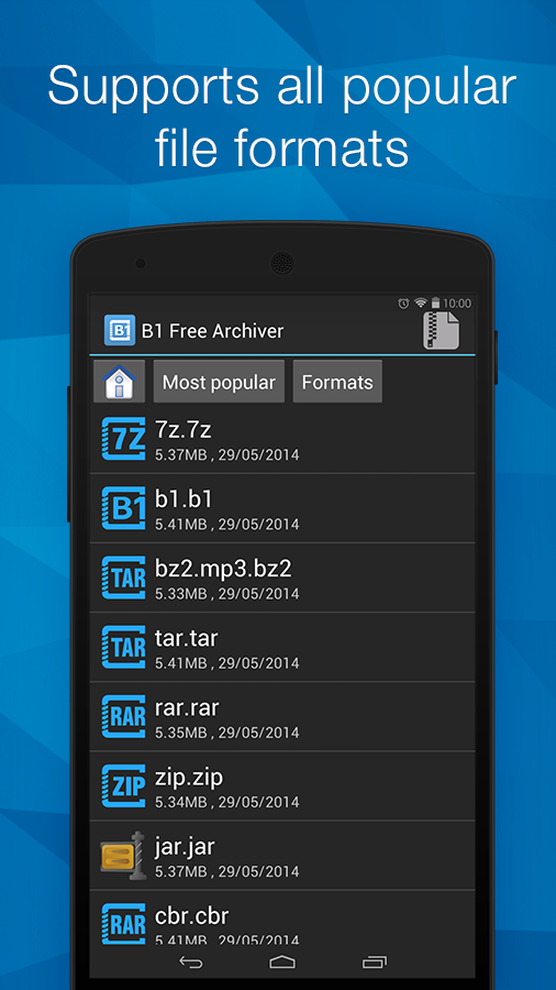 B1 Archiver zip rar unzip- screenshot