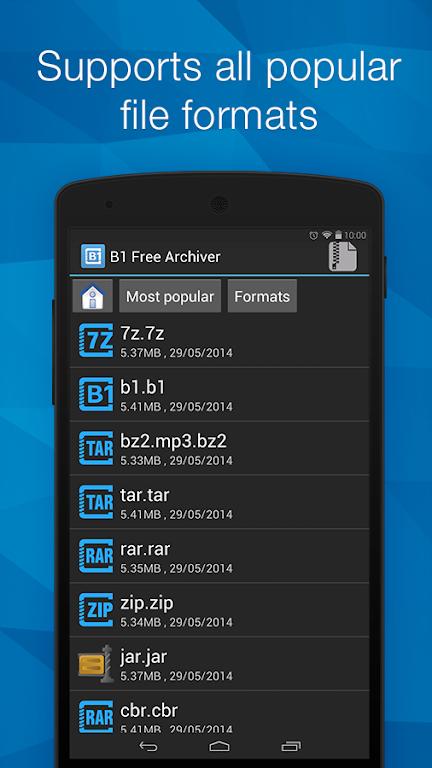 ดาวน์โหลด B1 Archiver zip rar unzip APK6 รุ่นล่าสุด app