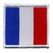 French Patch Flag Sticker