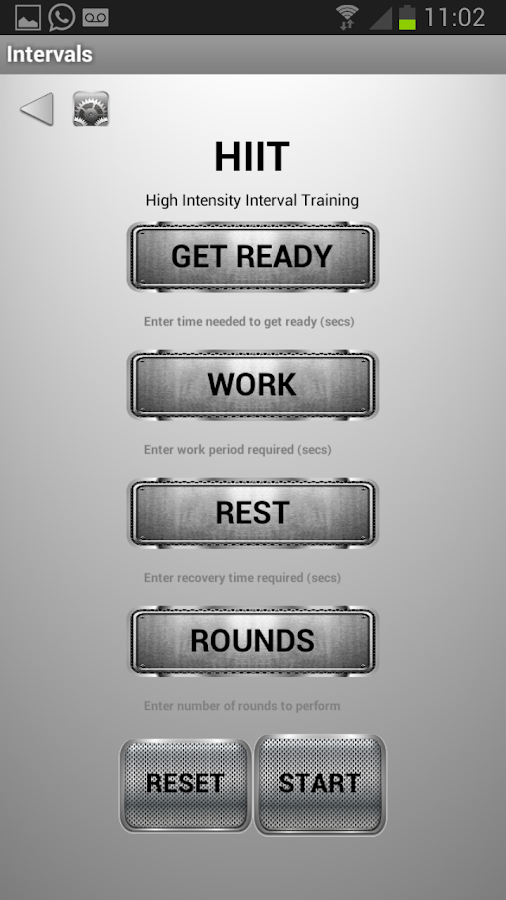Restimate Gym Timer- screenshot
