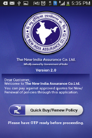 New India Customer - screenshot