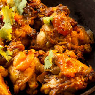 Chicken Tajine with apricots.