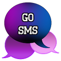 GO SMS - Simple Blend Purple
