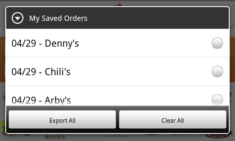 Fast Food Nutrition- screenshot