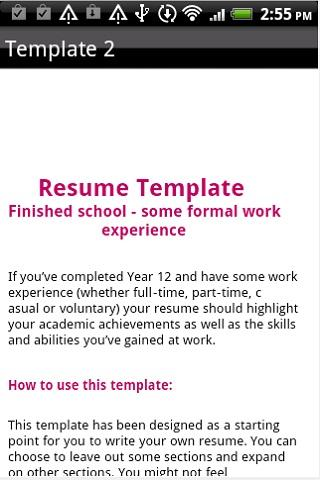 resume format android apps on play