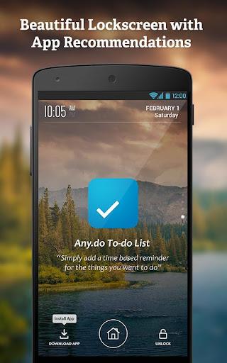 Get Apps via Lockscreen
