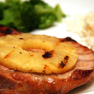 Grilled Pineapple Pork Chops.