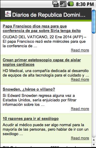 Diarios de Rca. Dominicana