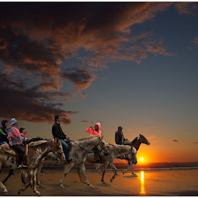 A ride on the beach by George Herbert - Landscapes Sunsets & Sunrises