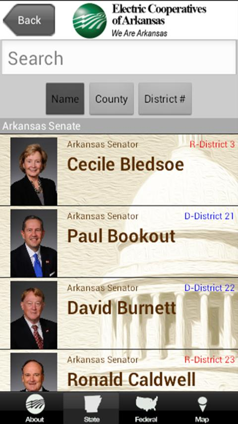 2015 AR Legislative Roster - screenshot