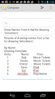 Screenshot of Draw Names From A Hat