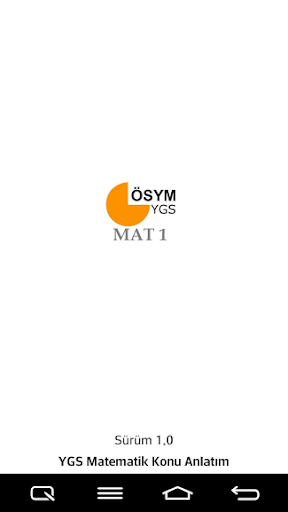 Matematik 1 YGS Konu Anlatım
