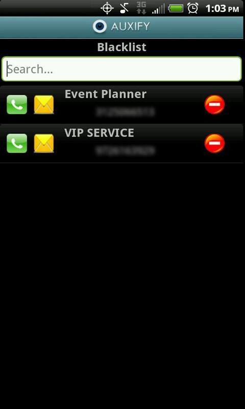 Auxify Call Blocker SMS Eraser- screenshot