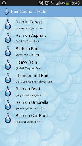 Rain Sound Effects