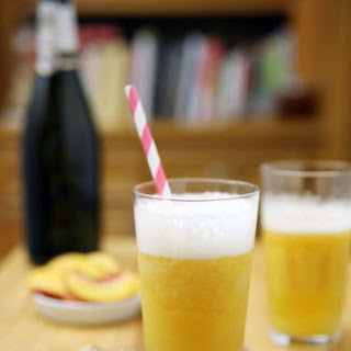 Bourbon Peach Bellini.