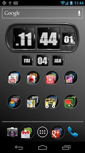 3D Animated Flip Clock BLACK - screenshot thumbnail
