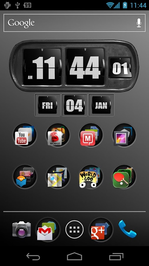 3D Animated Flip Clock BLACK - screenshot
