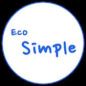 카카오톡 테마 - Eco Simple Blue