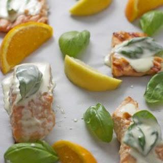 Salmon in Basil Citrus Cream Sauce