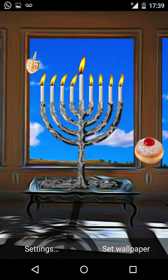 Hanukkah Holiday HD Wallpaper- screenshot