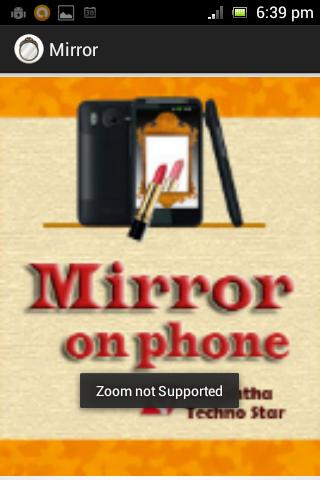 Mirror On Phone - screenshot