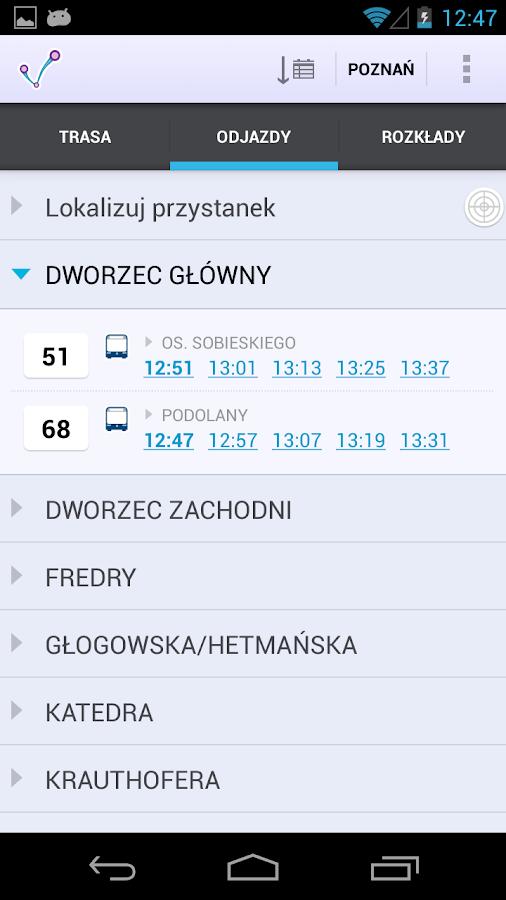 jakdojade.pl – zrzut ekranu
