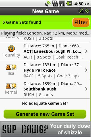 Tourality Free GPS Challenges - screenshot