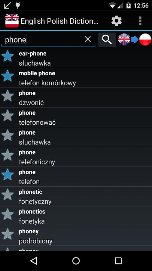 Offline English Polish Dict. - screenshot