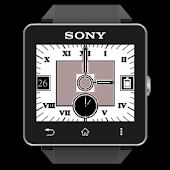 SW2 White Analog Clock Widgets