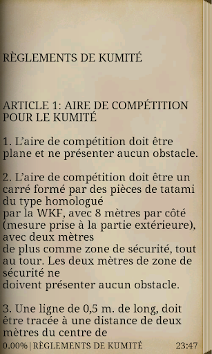 RÈGLES DE CONCURRENCE WKF