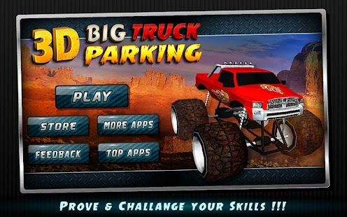 3D 大卡车停车★模拟器