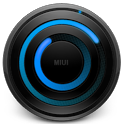 MIUI Spiral BLUE Analog Clock icon
