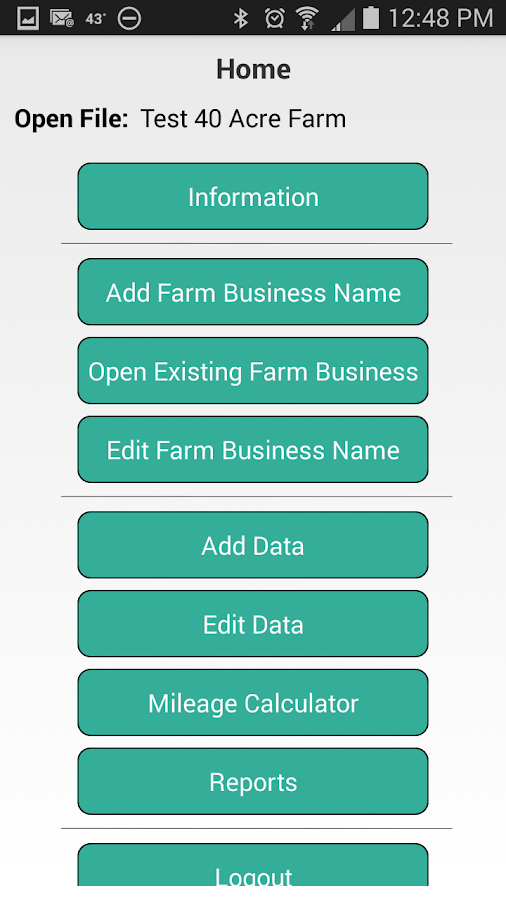 Schedule F - Farm Accounting- screenshot