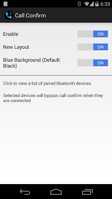 Minimalist Call Confirm - screenshot