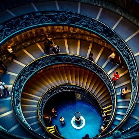 Vatican Museums' famous spiral staircase by Florin Ihora - Buildings & Architecture Other Interior ( famous place, rome, staircase, museum, spiral, vatican, italy )