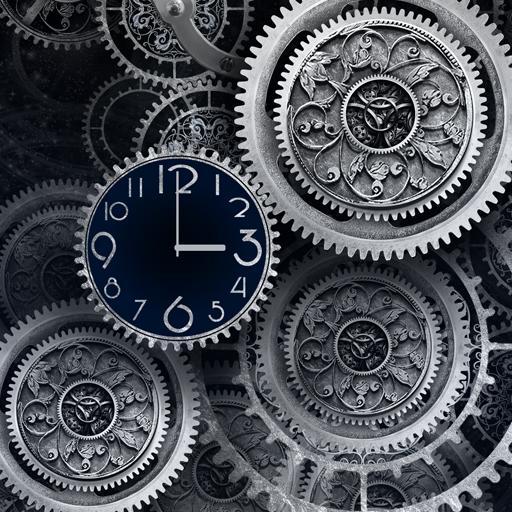 FREE Black Clock LiveWallpaper