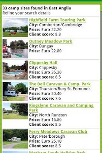 ACSI Eurocampings - screenshot thumbnail