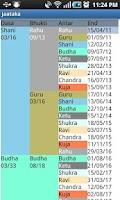 Screenshot of Jaataka for Astrology