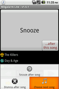 Music Alarm Megalarm Lite - screenshot thumbnail