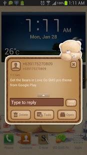 Bears in Love Go SMS Pro Theme - screenshot thumbnail