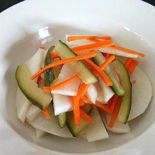 Pickled Radish, Cucumber and Carrot